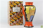 Sale 8599 - Lot 22 - Bizarre by Clarice Cliff For Wedgwood Vase (H: 31cm)