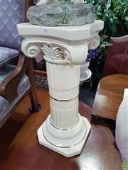 Sale 8601 - Lot 1052 - Pair of Ceramic Plinths (H:62 W:27 D:28cm)