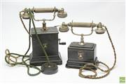 Sale 8645D - Lot 72 - Pair Of Ericsson & Co Stockholm Telephone & Spare Parts