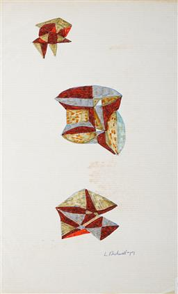 Sale 9103 - Lot 2056 - Lyndon Dadswell (1908-1986) (2 works) - Studies for Sculpture no. 401 & no.402, 1977 33 x 20 cm, each
