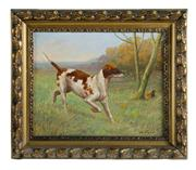 Sale 8980J - Lot 69 - Charles Virion - French, 1865 - 1946 -  Pointer  34 x 42 cm signed oil on canvas