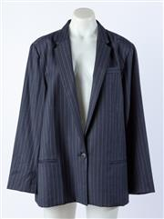 Sale 9003F - Lot 79 - A Veronica Maine Ladies Navy Pinstriped Jacket, (size 12) wool/polyester/viscose/elastane.
