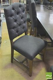 Sale 8302 - Lot 1082 - Set of Six Charcoal Upholstered Dining Chairs