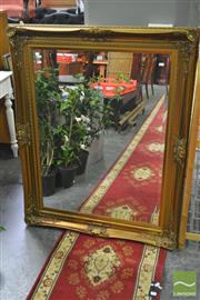 Sale 8277 - Lot 1053 - Large Gilt Framed Bevelled Edge Mirror