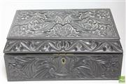Sale 8481 - Lot 12 - Anglo Indian Carved Collectors Box with Bone inlay