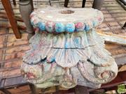 Sale 8469 - Lot 1099 - An Antique architectural capital with distressed painted finish