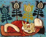Sale 8527A - Lot 32 - Janine Daddo (1959 - ) - Rabbit Dreaming II 60 x 75cm