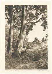 Sale 8592A - Lot 5095 - Ernest Edwin Abbott (1888 - 1973) - Bush Crossing 28 x 18.5cm