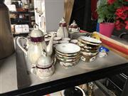 Sale 8797 - Lot 2455 - Japanese Tea Service & Matching Coffee Service, Japanese Cup & Saucer Sets Plus Oriental Bowls