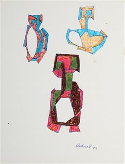 Sale 9106 - Lot 2113 - Lyndon Dadswell (1908-1986) (2 works) - Studies for Sculpture no.420 & no.421, 1975 - 1977 23 x 17.5 cm, each