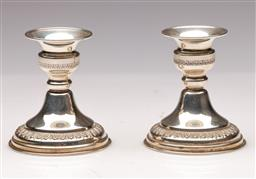 Sale 9107 - Lot 15 - A Pair of Hallmarked Sterling Silver Candlesticks (H 17.5cm0