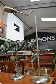 Sale 8147 - Lot 1053 - Metal Standard Lamp With Matched Table Lamp