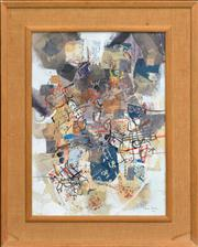 Sale 8259 - Lot 504 - Robert Henderson (Bob) Grieve (1924 - 2006) - Untitled, 1964 (Collage) 37 x 27cm