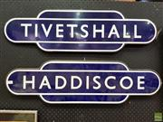 Sale 8566 - Lot 1043 - Pair of Vintage Enamel Street Signs