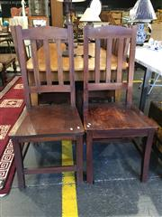 Sale 8787 - Lot 1042 - Set of 8 Teak Dining Chairs