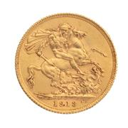 Sale 8855H - Lot 63 - 1913 gold sovereign weight approx 7.95g