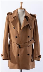 Sale 9003F - Lot 31 - An Arthur Galan double breasted pea-coat in camel, size 3