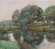 Sale 8901 - Lot 576 - Artist Unknown - Countryscape and River 22 x 25.5 cm