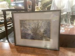 Sale 9106 - Lot 2042 - William Baker An Afternoon Stroll, watercolour, frame: 40 x 51 cm, signed lower right -