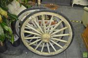 Sale 8331 - Lot 1029 - Pair of Large Wagon Wheels