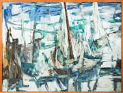 Sale 8440A - Lot 47 - Jean Appleton - The Other Side of the Sea 122 x 122cm