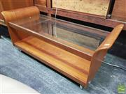 Sale 8451 - Lot 1038 - G-Plan tulip coffee table with glass top