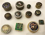 Sale 8436A - Lot 63 - A group of ten assorted cloisonné and similar pill boxes.