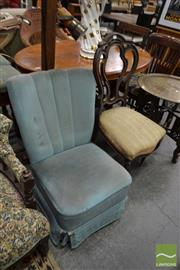 Sale 8507 - Lot 1093 - Carved Back Chair and Art Deco Chair