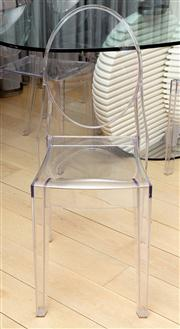 Sale 8703A - Lot 54 - A set of six victoria ghost by Phillipe Starck for Kartell dining chairs, Height of back 91cm