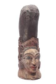 Sale 8719 - Lot 9 - Timber Carved Figure (H:28cm)