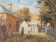 Sale 8813 - Lot 513 - Stewart McKenzie Cullen (1933 - ) - Scene at Mudgee 29 x 39.5cm