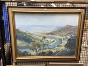 Sale 8891 - Lot 2022 - James Radford - Bend in the River, oil painting, signed -
