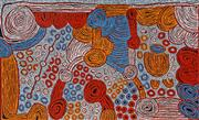 Sale 9013 - Lot 521 - Marlene Young Nungurrayi (1973 - ) - Minyma Tjukurrpa 95 x 157 cm (stretched and ready to hang)