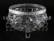 Sale 9003G - Lot 666 - Vintage American Cut Glass Footed Bowl, Probably Indiana Glass Company (Dia23cm)