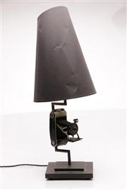 Sale 9064 - Lot 78 - Vintage Camera Base Table Lamp with Cone Shade (H:74cm)