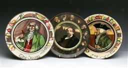 Sale 9093P - Lot 63 - Three Royal Doulton Plates with Charles Dickens The Doctor and The Squire (D: 26.5 cm)