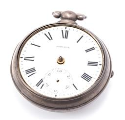 Sale 9180E - Lot 166 - A sterling silver cased pocket watch, with losses