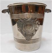 Sale 8298 - Lot 55 - A French Art Deco  Reims champagne bucket --     chrome or silvered finish on copper ?.  20 cm