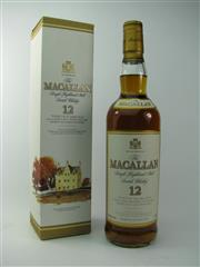Sale 8329 - Lot 512 - 1x The Macallan Distillers 12YO Sherry Oak Cask Single Highland Malt Scotch Whisky - 40% ABV, 700ml in box