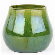Sale 8399 - Lot 65 - John Campbell Green Glaze Vase
