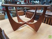 Sale 8451 - Lot 1098 - G-Plan Round Atmos Coffee Table with Glass Top