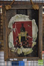 Sale 8518 - Lot 2071 - Artist Unknown, Pernod, mixed media, frame size 40 x 28cm