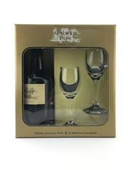 Sale 8553W - Lot 31 - 1x Galway Pipe Old Tawny Port - in gift pack with 2 glasses