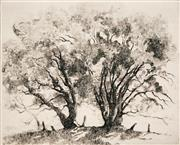 Sale 8716 - Lot 2084 - Adrian Feint (1894 - 1971) - The Basket Willows 14 x 11cm (sheet: 44.5 x 34.5cm)
