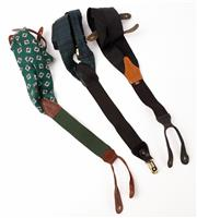 Sale 9080F - Lot 96 - A SET OF THREE SUSPENDERS; in various patterns to include an example by polo Ralph Lauren