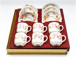 Sale 9211 - Lot 56 - Royal Crown Derby Coffee Duos For Six