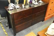 Sale 8175 - Lot 1078 - Raised Timber 6 Drawer Chest