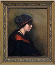 Sale 8363 - Lot 562 - Margery Withers (1874 - 1966) - Portrait of a Lady 60 x 50cm