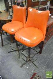 Sale 8326 - Lot 1245 - Pair of Retro Bar Stools