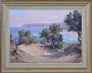 Sale 8401 - Lot 504 - Robert Simpson (1955 - ) - Looking South, Berrara Beach, 1980 37 x 49.5cm